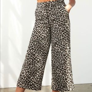 NWT Anthropologie Jacquard Trousers